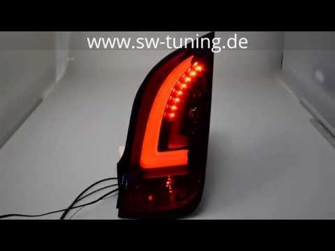 LED Rückleuchten swcelis für VW UP! Skoda Citigo 11-16 black/smoke Lightbar SW-Tuning