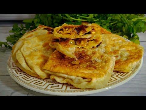 Простой рецепт ЛЕПЕШКИ на воде луком и курицей До чего же это вкусно и не дорого Tortillas