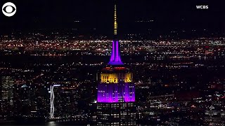 WEB EXTRA: Empire State Building Lit Up In Lakers Colors