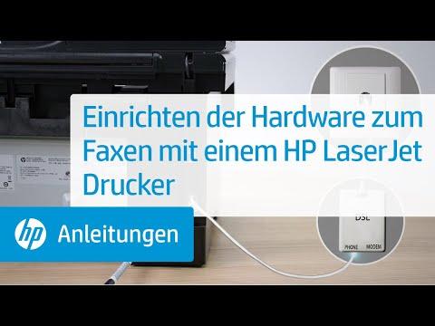 Einrichten der Hardware zum Faxen mit einem HP LaserJet Drucker