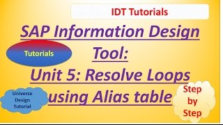 SAP IDT Unit 5 : Resolve Loops using Aliases: Practical Examples