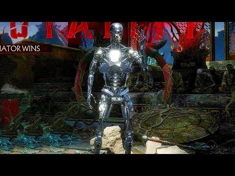 MORTAL KOMBAT 11 Endoskeleton Terminator Brutality & All Victory Poses MK11