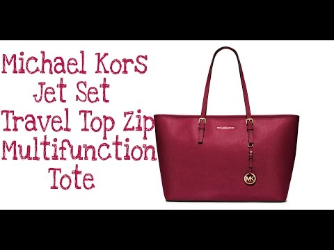 Michael Kors Jet Set Travel top Zip Multifunction Tote | Bag Review