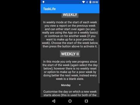 Video of TaskLife Performance Tracker