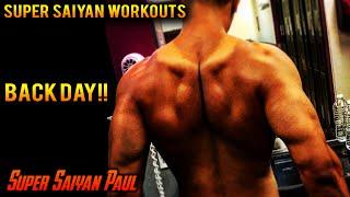 Super Saiyan Workouts - Back / Biceps Day | Super Saiyan Paul