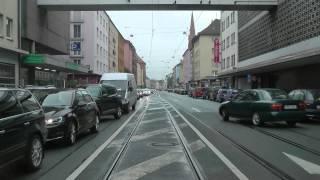 preview picture of video 'Straßenbahn Nürnberg linia 5'