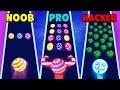 Noob Vs Pro Vs Hacker Dancing Road
