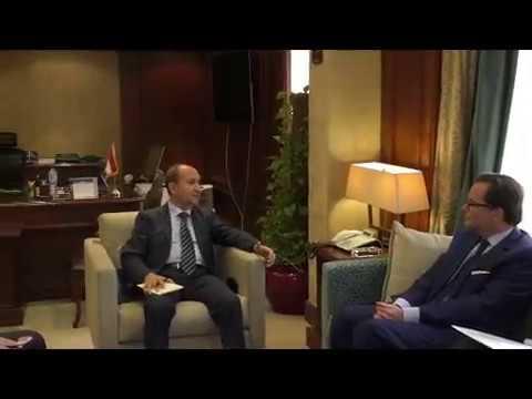 لقاء المهندس/عمرو نصار وزير التجارة والصناعة مع سفير فرنسا بالقاهرة
