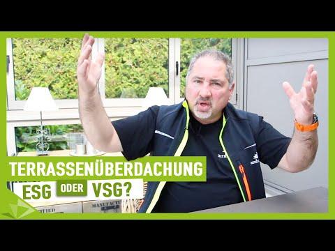 Terrassenüberdachung - ESG oder VSG - Ambitop Terrassendach