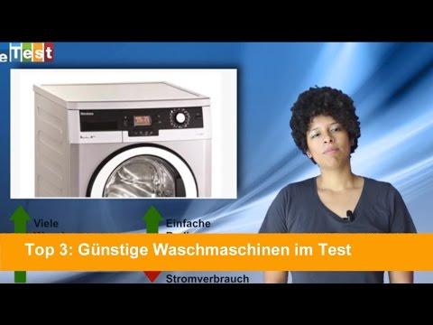 eTest.de Top 3: Günstige Waschmaschinen im Test