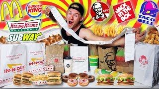 LETTING 15 PEOPLE IN FRONT OF ME DECIDE WHAT I EAT! (FAST FOOD CHALLENGE)