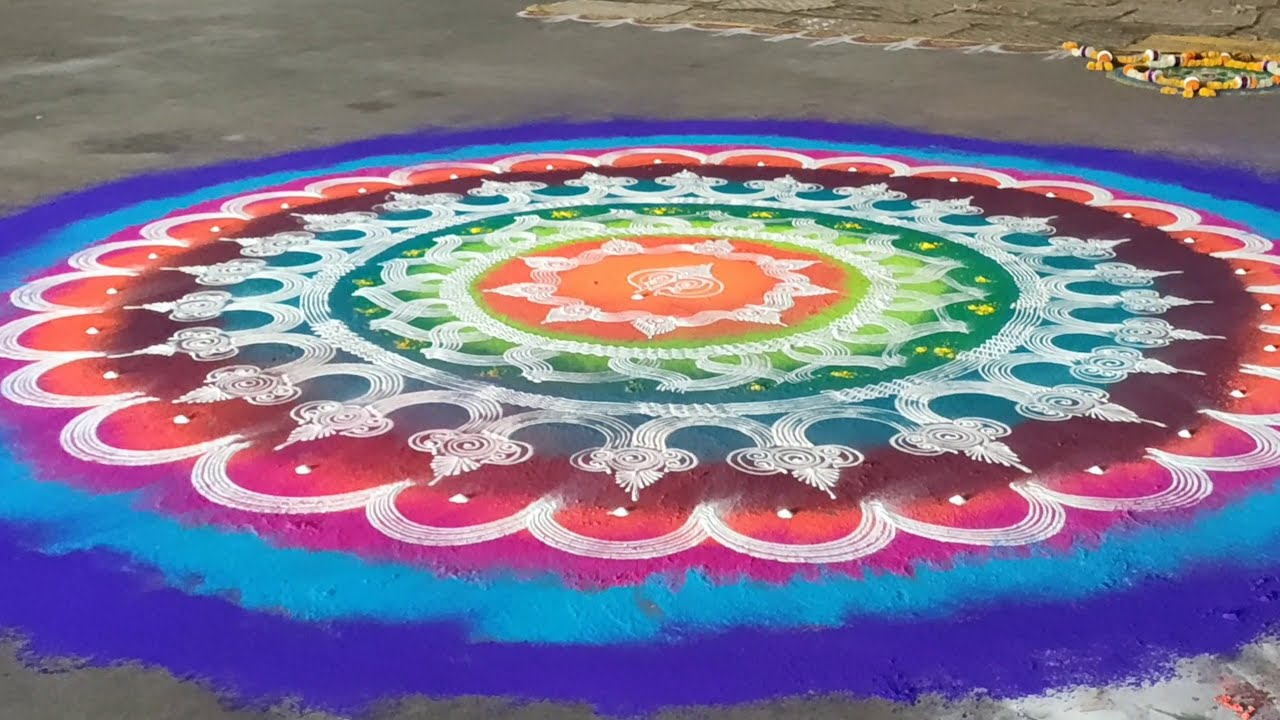 rangoli competition for ganesh chathurthi by ganesh vedpathak
