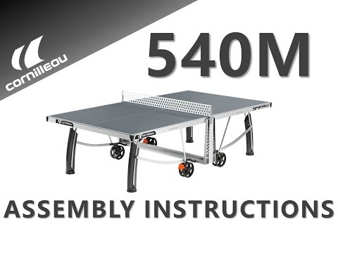 Cornilleau Pro 540M Crossover Outdoor Table Tennis Table - Assembly Video