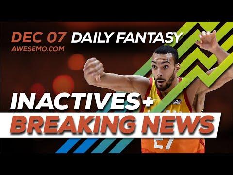 NBA DFS Live Before Lock - Sat 12/7 - FantasyDraft Yahoo FanDuel DraftKings - Awesemo.com