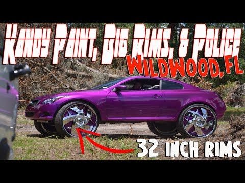 Big Rims, Kandy Paint, & Police. Fathers Day Car Show Wildwood, FL 2018
