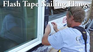 Marvin Window New Construction Installation on Vinyl Siding Home