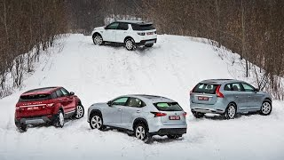 Lexus NX, Volvo XC60, Evoque, Disco Sport — групповой тест