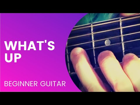 """What's Up"" Guitar Tutorial I created for my Lady Rockstars class."