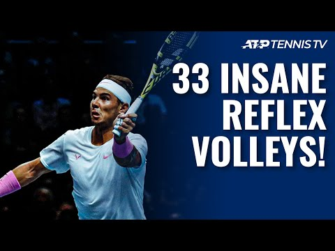 Watch: 30+ Insane Tennis Reflex Volleys