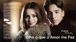 OLHA O QUE O AMOR ME FAZ (Lyric Video) - Sandy E Junior