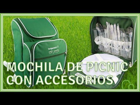 Mochila de picnic con accesorios incluidos