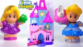 FISHER PRICE LITTLE PEOPLE DISNEY PRINCESS MAGICAL WAND PALACE WITH CINDERELLA & RAPUNZEL -UNBOXING