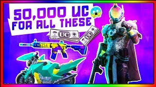 I SPENT 50,000 UC FOR ALL THIS ITEMS | PUBG MOBILE 50,000 UC CRATE OPENING WITH DYNAMO