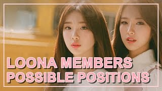 HERE ARE SOME POSSIBLE POSITIONS OF LOONA MEMBERS