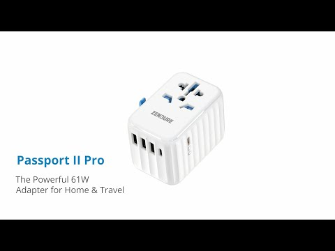 Passport II Pro: The 61W Adapter for Home & Travel-GadgetAny