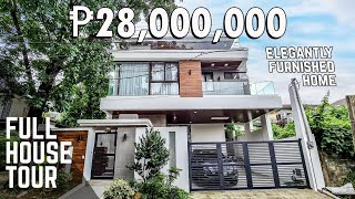 House Tour QCFH28 | Modern Furnished House for sale | Filinvest, Quezon City