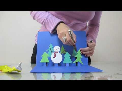 Κατασκευή τρισδιάστατης χριστουγεννιάτικης κάρτας