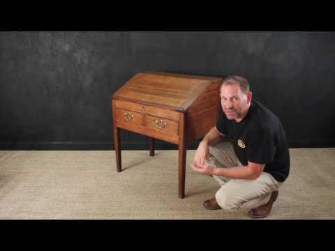 Antique Solid Oak Desk - Clerk's Desk or School Desk