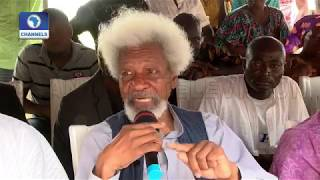 Stop Trying To Muzzle People When They Come Together, Soyinka Tell FG