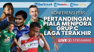Konferensi Pers Pertandingan Piala Menpora Grup C Jelang Laga Terakhir di Stadion Manahan Solo