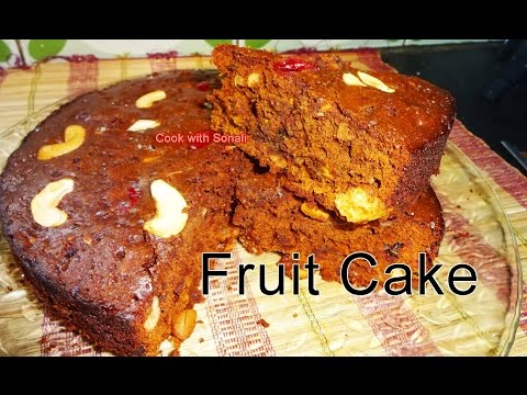 Video Fruit Cake | Fruit Cake in Gas Oven | Fruit Cake in Microwave | Fruit Cake by Cook with Sonali