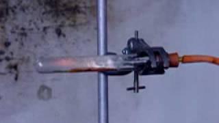 Chlorine reacting with white phosphorus
