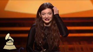 Lorde Wins Best Pop Solo Performance | GRAMMYs