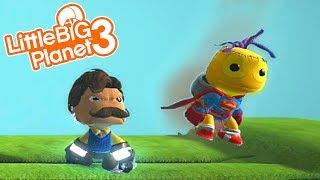 HELLO NEIGHBOR MEETS SACKBOY! | LittleBIGPlanet 3 Gameplay (Playstation 4)