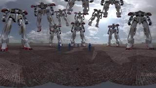 実験【3DVR360】アニメロボットスケールチェック静止画【Cardboard】