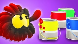 PAINT COLORS with ANG | Play with SQUISHY BALLS! Learning Videos by Cartoon Candy