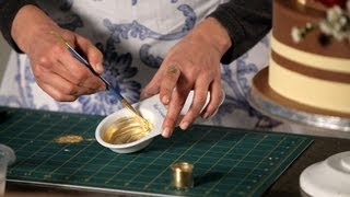 How To Paint With Gold   Wedding Cakes