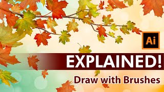 Create An Autumn Vector Illustration With Maple Leaves - Adobe Illustrator Tutorial
