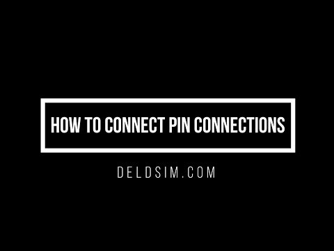 How to connect pin connections