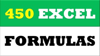 Learn 450 Excel Formulas just in 1 day - MS Excel 2016 Formula Tutorial