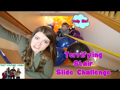 Stair Slide Challenge / That YouTub3 Family