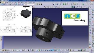CATIA V5/V6 Tutorial | *New* Plastic Knob Design Step by step