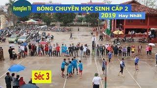 Chung kết bóng chuyền học sinh cấp  2 Thạch Thành 2019   Thạch Sơn  & Thành Minh -Séc 3