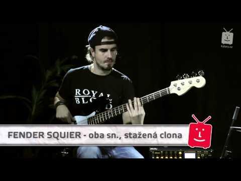 FENDER SQUIER Affinity Jazz Bass RW BK Elektrická baskytara