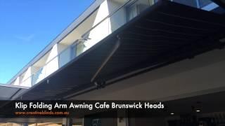 Klip Folding Arm Awning Cafe Brunswick Heads
