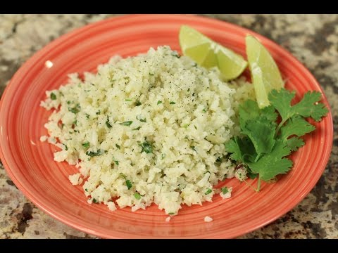 "Video Cilantro Lime Cauliflower ""Rice"" - Low Carb Side Dish by Rockin Robin"
